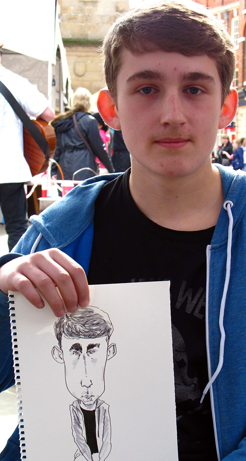 live caricature drawing at event in Shrewsbury, shropshire