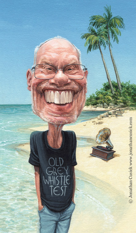radio times caricature illustration for Desert Island Disks, 2014