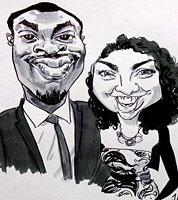 live caricaturist for hire in birmingham and west midlands