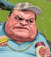 political cartoon for the times. caricature of labour mp john prescott