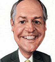 commission a corporate caricature of executive