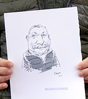 live caricature drawing, shrewsbury, shropshire